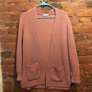 Madewell ribbed cardigan sweater